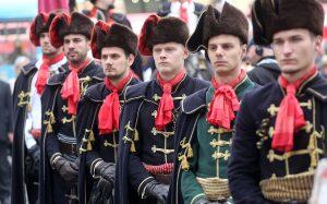 Garde d'honneur du régiment des Cravates / Zagreb - Croatie