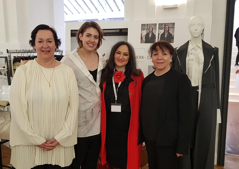 Prof. Claudine Degryse - Étudiante Daniela Schmid - Jury Elvisa Jasak - Prof. Cristina Labat - ESMOD Paris